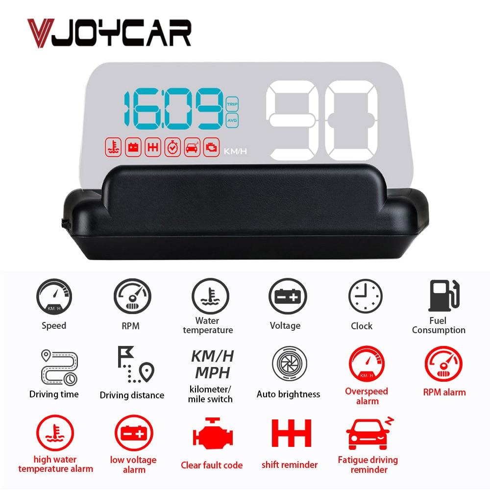 2020 Newest OBD2 HUD Gadget Mirror M42 Car Head Up Display Digital Speedometer Security Alarm Water Temp RPM Faulty Code Clear