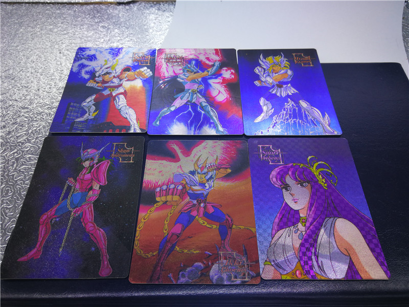 6pcs/set Saint Seiya Childhood Memories Toys Hobbies Hobby Collectibles Game Collection Anime Cards