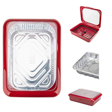 Portable 2 In 1 Casserole Pan Carrier Takeout Use Fits Half Size Foil Tools PP Stay Cool Handles Tin Tray