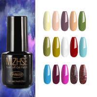 Conjunto de Esmalte de uñas de Gel MIZHSE Rosa verde amarillo rojo brillo Color Esmalte de uñas Base y parte superior Para Esmalte de uñas Para una Gel laca