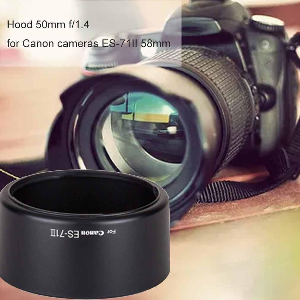 Sun Hood lente de Zoom tapa parasol protección para Canon 50mm f/1,4 ES-71II 58mm sombra funda protectora de cámara Accesorios