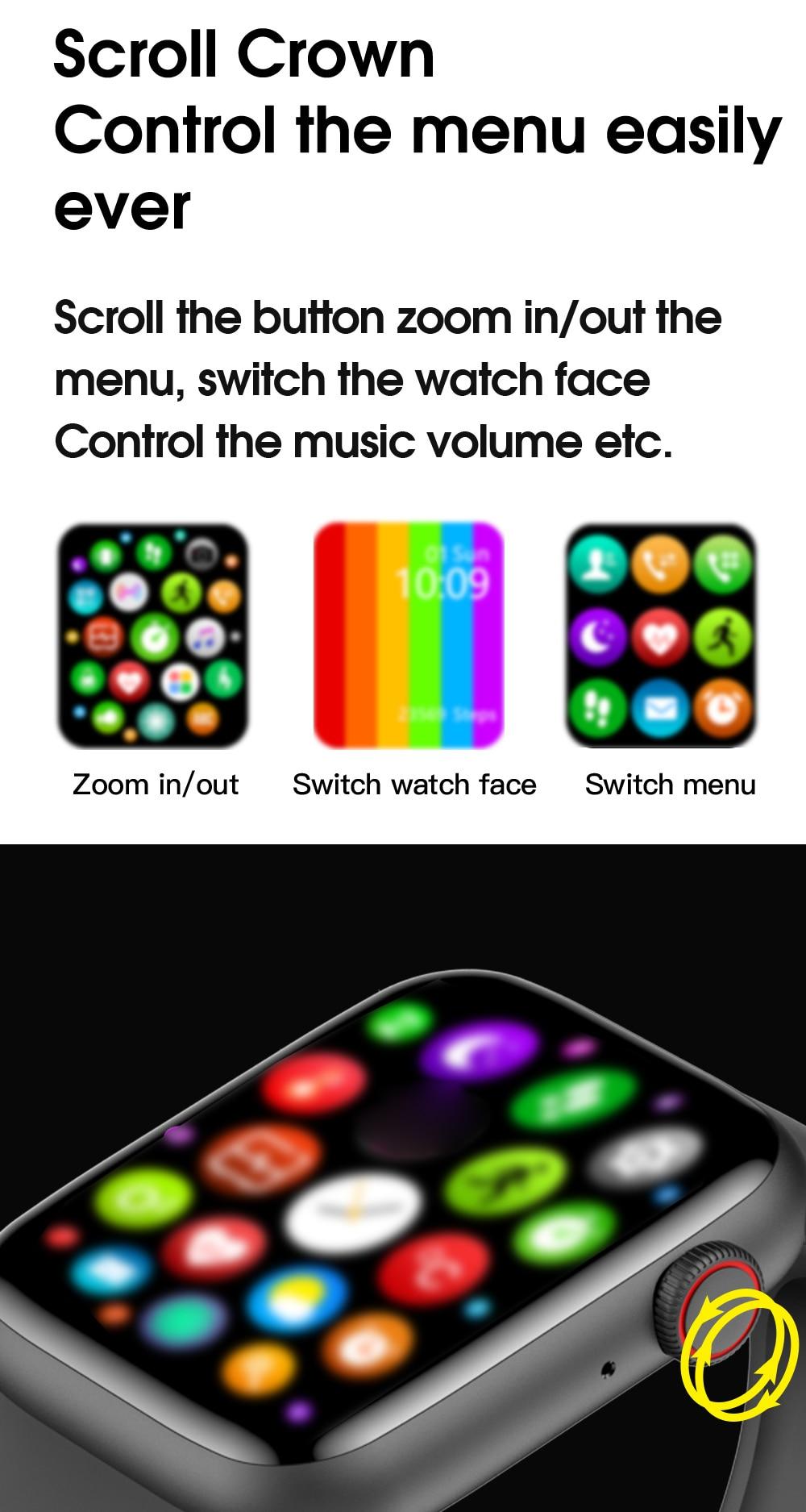 He8e29c0a158e4848a351be96728295349 TREZER IWO W26+ Pro Smart Watch 1.75 Inch 320*385 Series 6 IPS Full Touch Screen Custom Watch Face Smartwatch Men Women PK HW22