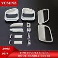2005-2017 крышка ручки двери для Toyota Commuter Хром Черный углеродного волокна аксессуары для Toyota Hiace 2016 автозапчасти Ycsunz