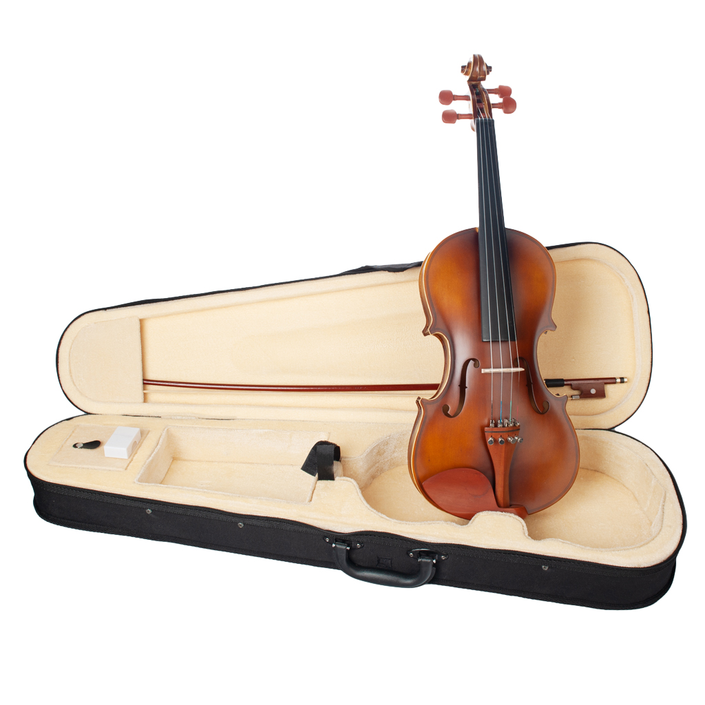Professional 4/4 Full Size Acoustic Violin with Hard Case, Bow and Rosin Orchestra Bowed Stringed Instrument(Brown)