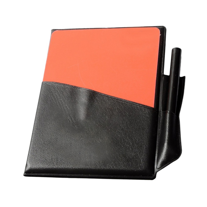 New Soccer Referee Red Yellow Card + Pencil + Leather Case Custom Notebook Sport Football Match Sport Accessories