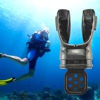 Engrenagem prática mergulho mergulho respiração para adultos subaquática com laço envoltório moldável bocal regulador mordida de silicone
