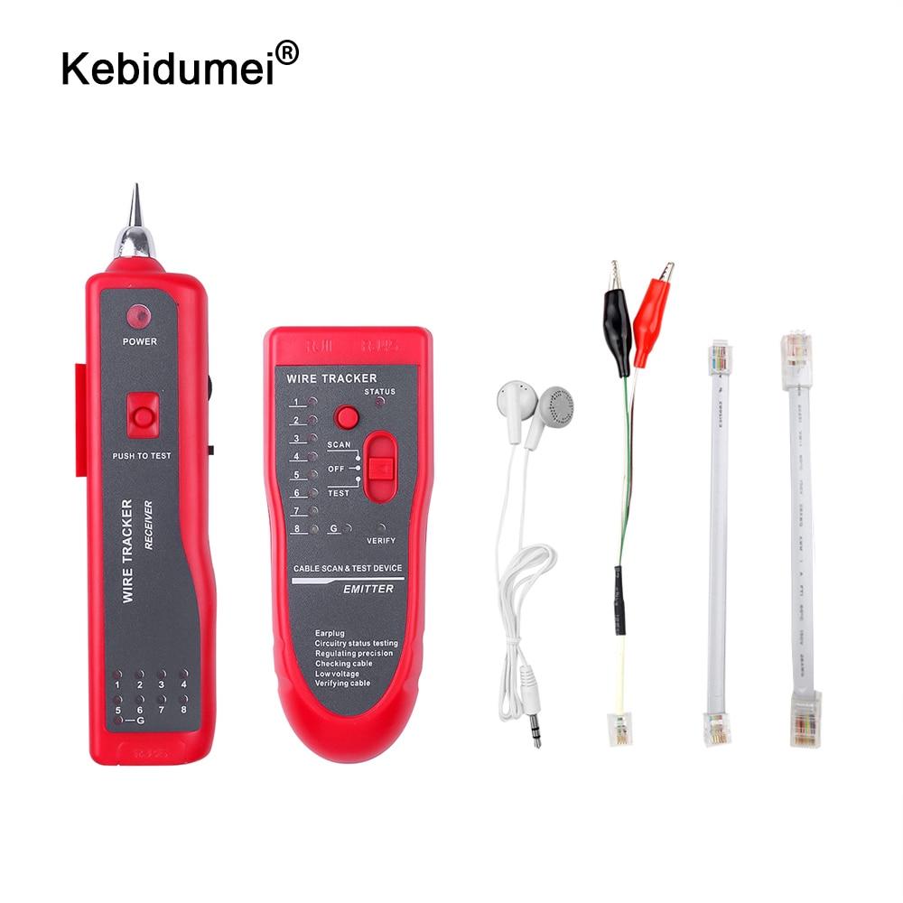 Kebidumei LAN testeur de câble réseau traqueur de fil téléphonique pour STP UTP Cat5 Cat6 RJ45 RJ11 ligne Finder diagnostiquer traceur de tonalité