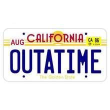 Autocollant de voiture en vinyle, dessins animés, passeport de californie, Outatime, couverture anti-rayures, PVC imperméable, 13cm X 7cm