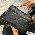 2020 bolsas de luxo designer 19 bolsa feminina pele de cordeiro crossbody bolsa de couro macio grande bolsa marca sacos de ombro corrente