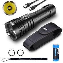 WUBEN LED 손전등 슈퍼 강력한 토치 26650 5000 mAH 배터리 4200 루멘 크리 어 방수 Type C 충전식 손전등 T70