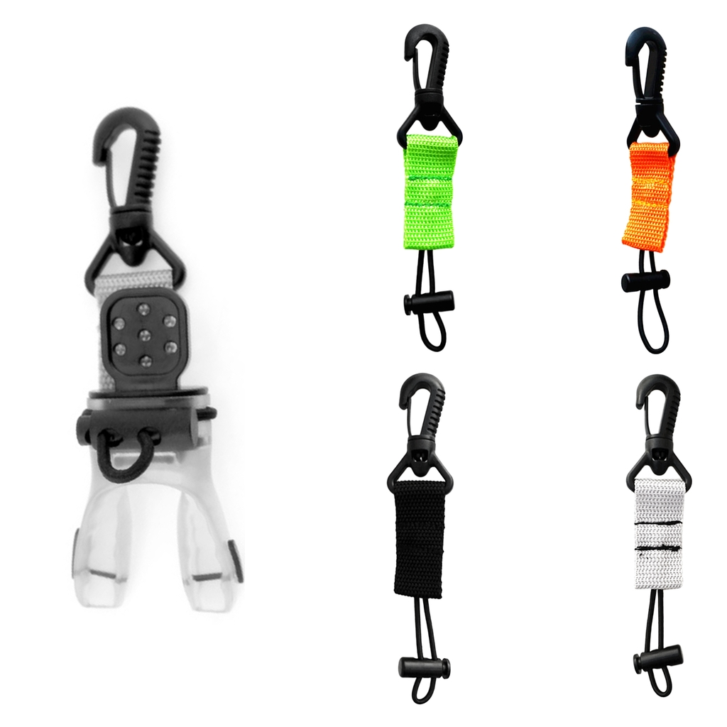 Scuba Divers Regulator Octopus Holder Retainer BCD Lanyard Extended Fixed Cord Lock Scuba Diving Mouthpiece Holder