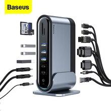 Baseus USB C концентратор 17 в 1 Тип C концентратор к PD RJ45 VGA HD 3 экраны USB 3,0 2,0 адаптер док-станция для MacBook Pro Тип-c концентратор USB