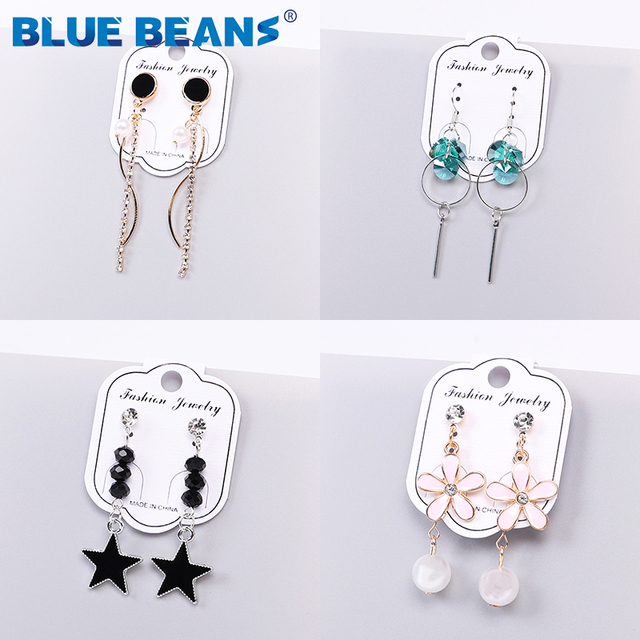 2020 Pearl  Earings for Women Drop Black Earrings Jewelry Fashion Small Earrings High Quality  Earing Pendientes New Women