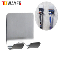 304-Stainless-Steel Razor-Holder Shelf Hook-Organizer Storage-Rack Bathroom 1PC Shaving-Razor