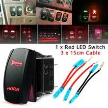 Универсальный Красный Водонепроницаемый светодиодный сигнал 12-24 В 20 А, мгновенный переключатель, стандартный 5-контактный переключатель дл...