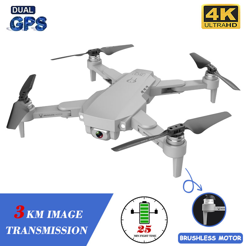 XKJ Gps Drone LU1 PRO With HD 4K Camera Professional 3000m Image Transmission Brushless Foldable Quadcopter RC Dron Kids Gift|RC Quadcopter| - AliExpress