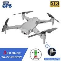 XKJ Gps Drone LU1 PRO Mit HD 4K Kamera Berufs 3000m Bild Übertragung Bürstenlosen Faltbare Quadcopter RC Eders kinder Geschenk