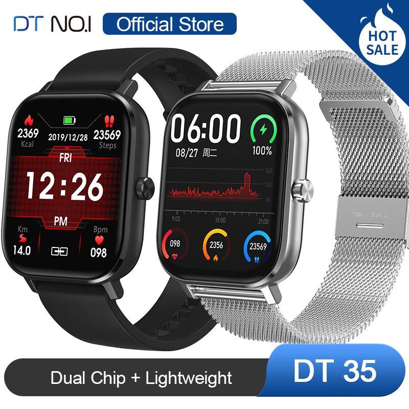 DT NO.1 DT35 Dual Chip Bluetooth Call Wristband Blood Pressure Oxygen Monitor Fitness Tracker Lightweight Smart Watch Women Men