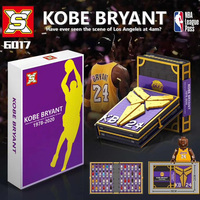 Building Blocks DG2000 Kobe Bryant Collections Professional Basketball Player Book Bricks Toys with Kobes Figures for Kids
