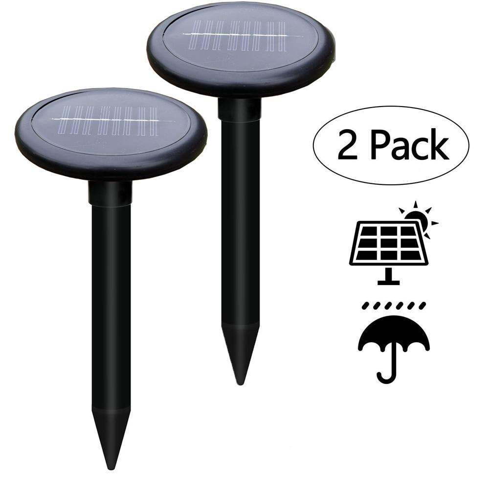 2Pack Outdoor Garden Yard Ultrasonic Solar Mole Snake Mouse Pest Rodent Repeller Anti Mosquito Snake Bird Keep Animals Away|Repellents|   - AliExpress