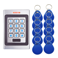 A7 Metal Access Control System Device Machine 2000 User Input and Output 125Khz Proximity Entry Door IP67 Waterproof -