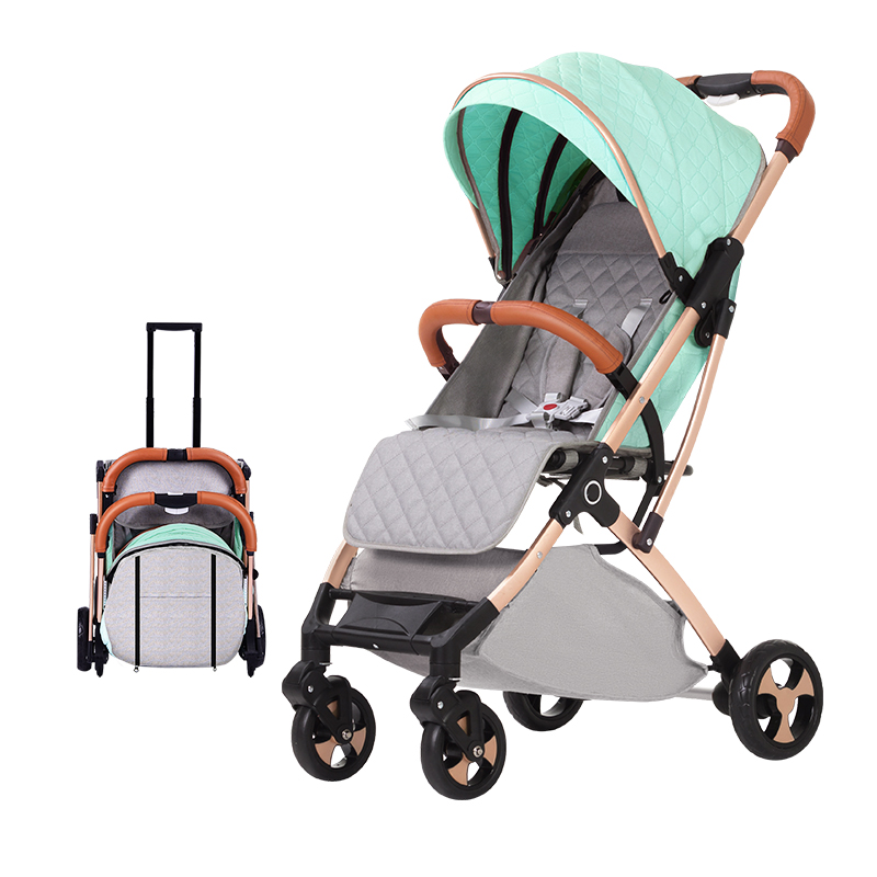 Lightweight Stroller Aluminum Alloy Frame Folding Stroller Portable Baby Car Four-wheeled Child Trolley On Plane