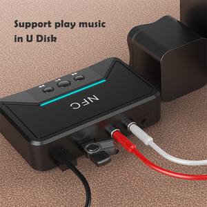 Image 4 - Bluetooth 5.0 מקלט מתאם NFC 3.5mm RCA אודיו AUX פלט אלחוטי Bluetooth Dongle סטריאו קולט עבור מגבר רמקול