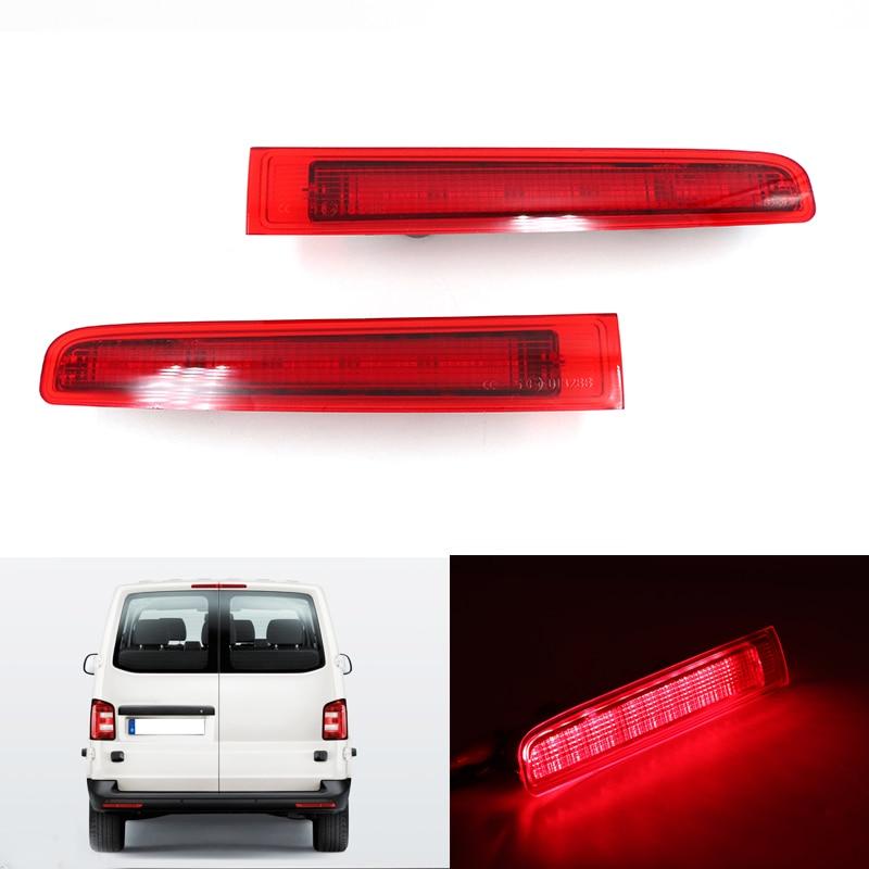Автомобильный стоп-светильник, 2 шт., для VW T5 T6 2003-2016, левый/правый, для дверей амбара, высокий уровень, третья стоп-лампа, задний бампер, отража...