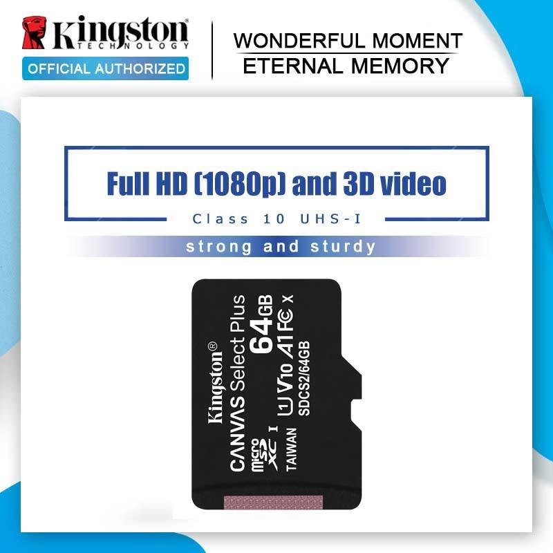Kingston-tarjeta de memoria Flash para teléfono, MicroSD Original de 64GB, 128G, 32GB, 16G, Clase 10, TF, microSDHC, microSDXC, 8GB