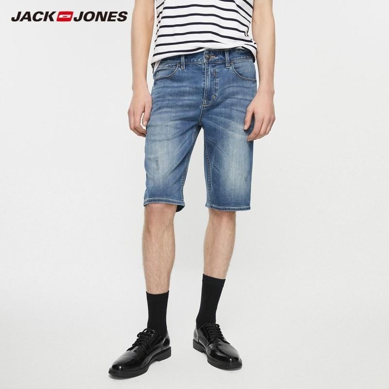 JackJones Summer Men's Slim Fit Stretch Denim Shorts Basic Menswear| 219243512
