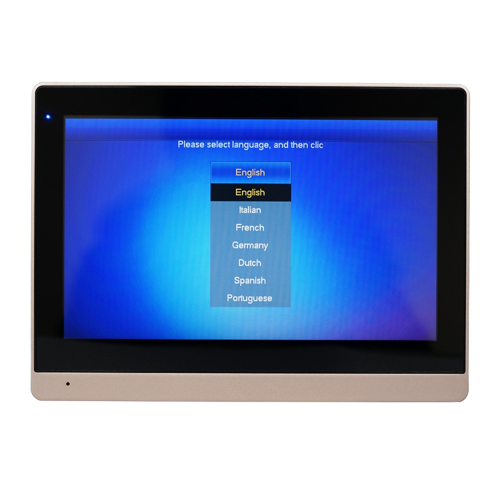 DH logo Multi-idioma VTH1660CH Monitor de interior táctil de 10 pulgadas, timbre IP, Video intercomunicador, timbre con cable - 2