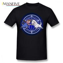 Fullmetal Alchemist T Shirt Ha Ver Glow T-Shirt Oversize Printed Tee Mens Summer Cotton Short-Sleeve Cute Tshirt