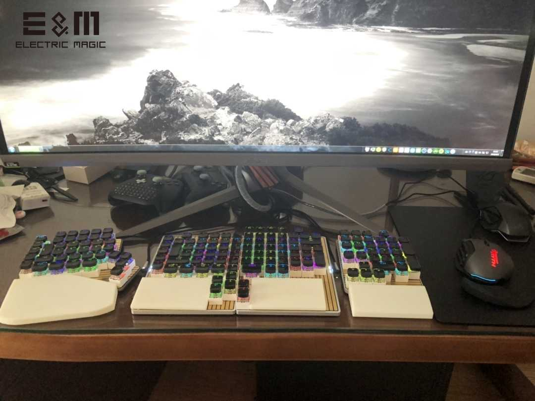 DK6 Mini Board Movable Split Keypad for Hot Swapable Magnetic Programmable RGB Backlight Mechanical Keyboard