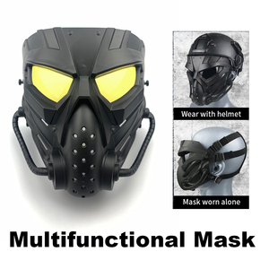 Airsoft Masks Multifunctional PC Len Skull Paintball Games CS Field Mask Hunting Military Tactical Cycling Full Face Protections(China)