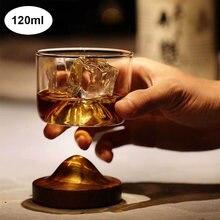 120 мл креативное виски пивное стекло с Горным деревянным основанием