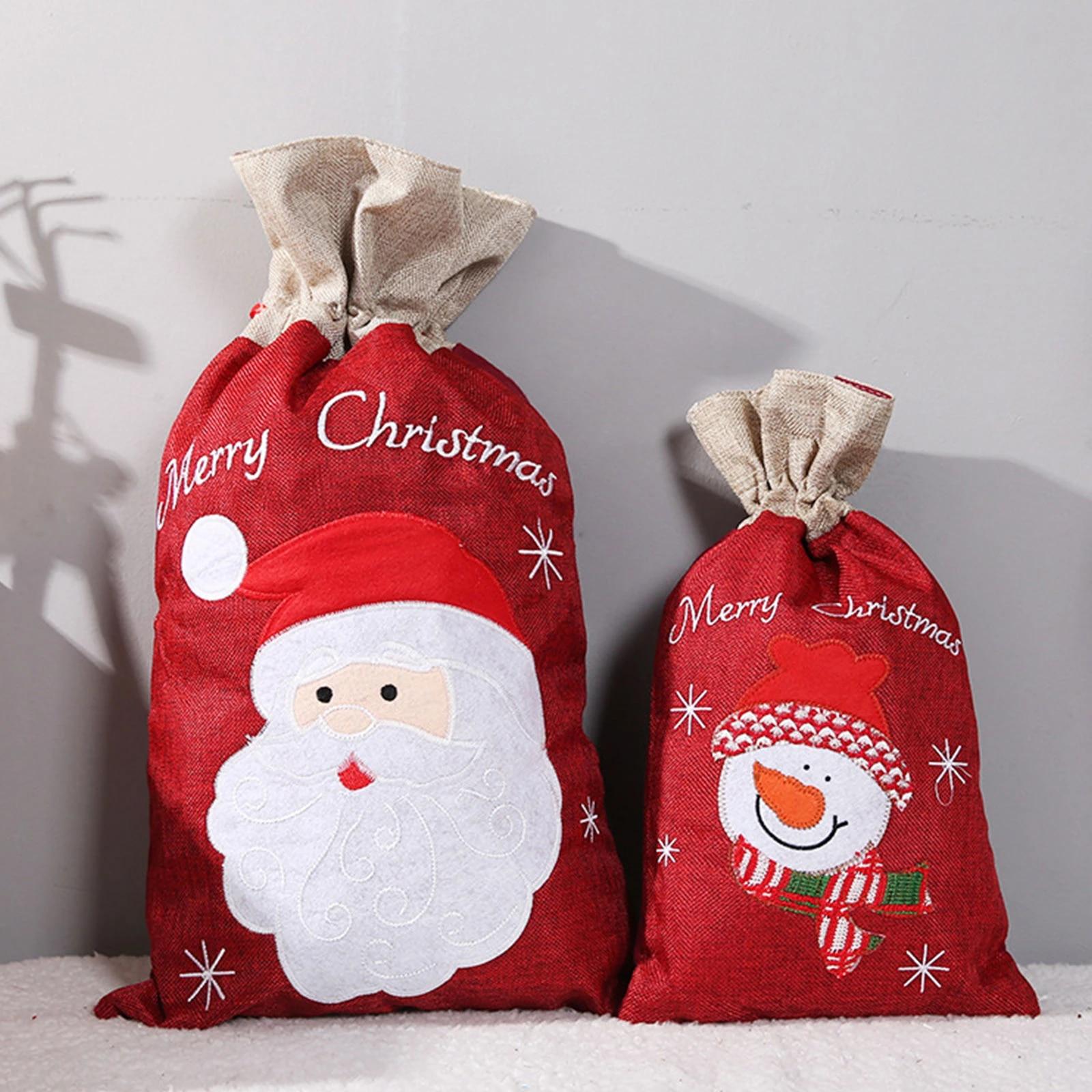 Regali Di Babbo Natale.Sacchetti Regalo Di Natale Di Babbo Natale Pupazzo Di Neve Borsa Per Decorazioni Di Buon Natale Per Sacco Di Famiglia Candy Porta Regali Di Natale Per Bambini Saran Wrap Plastic Bags