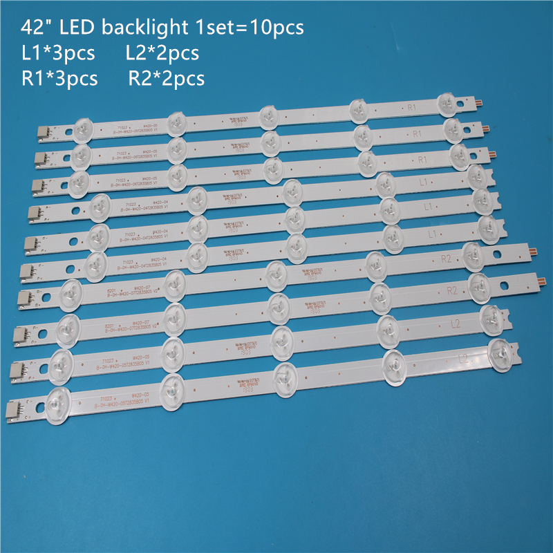 Original For LG 42LP360C-CA 6916L-1214A/1215A/1216A/1217A TV Backlight LED Strips And Origina Same Goods And Pictures