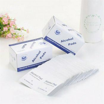 100 PCS Alcohol Wet Wipes Portable 75% Alcohol Prep Pads Swab Disinfection Wipes For Car Home Effective Cleaning Health Care