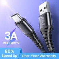 Fivi usb tipo c cabo para samsung s10 s9 s8 carga rápida tipo-c telefone móvel 3.0 usb c cabo de carregamento rápido para huawei p30 xiaomi