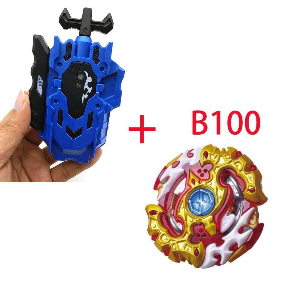 Волчок Beyblade BURST B-130 B-117 с пусковым устройством Bayblade Bay blade металл пластик Fusion 4D Подарочные игрушки для детей - Цвет: B100