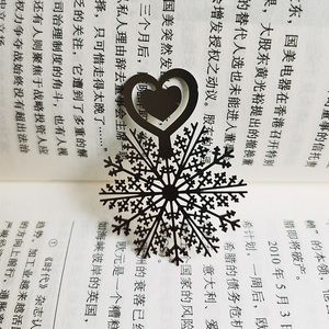Image 2 - Metal Flower Bookmarks Stainless Steel Snowflake Book Page Marker as Christmas Gifts 30pcs/lot