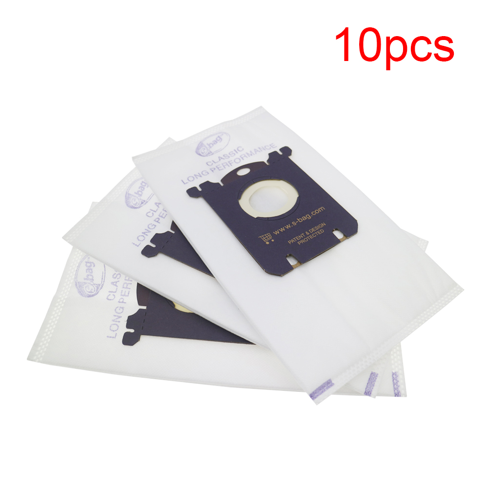 10 Pcs/lot Dust Bag For Electrolux E201B For Philips FC8021 Dust S-bag GR201 AEG Bags S-bag FC9000 FC9049 HR8500 HR8350 FC9150