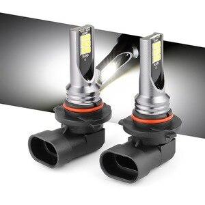 2x Fog Lights H1 H3 Led H4 H7 H8 H9 H11 9005 HB3 9006 HB4 Car CSP LED Headlight Bulbs DC12-24V 20000LM 6000K White Auto Fog Lamp