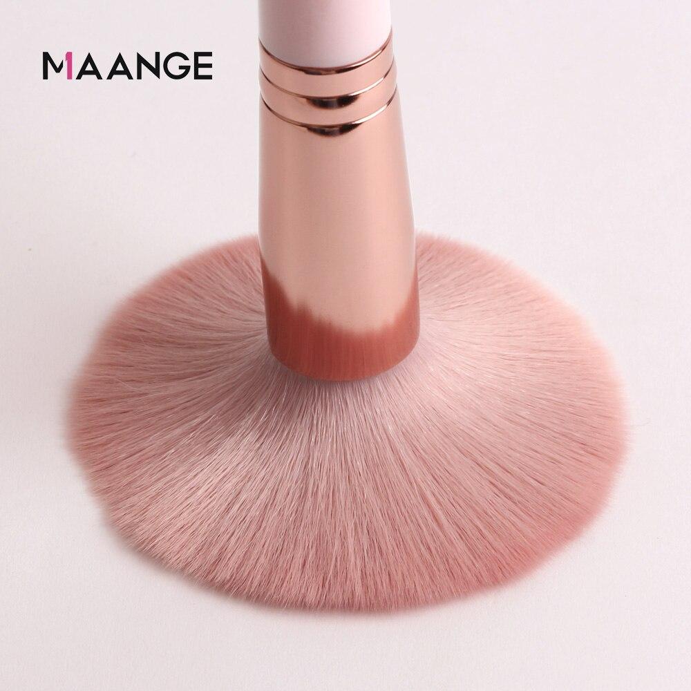 MAANGE Makeup Brushes Pro Pink Brush Set Powder EyeShadow Blending Eyeliner Eyelash Eyebrow Make up Beauty Cosmestic Brushes 4