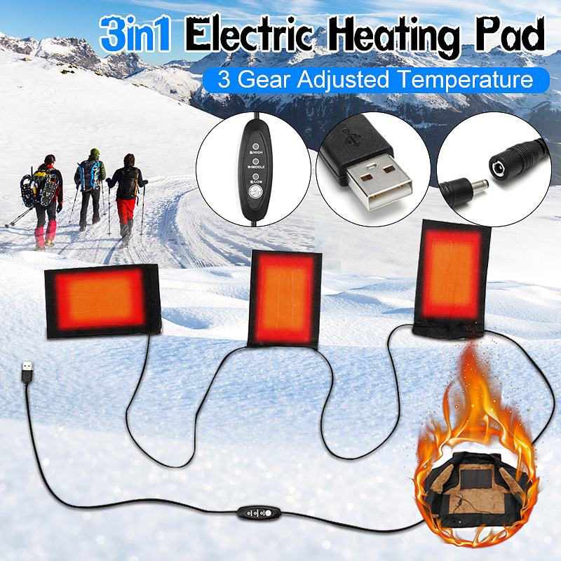 8pcs 5v-12v Usb Electric Heating Pads With 3 Gear Adjustable Temperature For Back Pain Neck Knee Hand Foot Shoulder