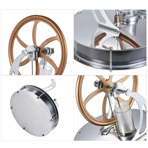 Image 4 - Aibecy Low Temperature Stirling Engine Motor Model Heat Steam Education Toy DIY Kit