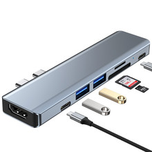 Direct Plug-in Type C Docking Station Macbook Adapter Pro Apple Laptop Usb Thunderbolt PD 4k HDMI-Compat Samsung Huawei Matebook
