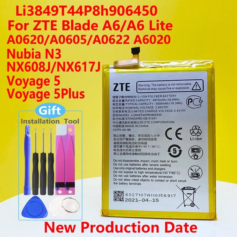 NEW Original 5000mAh Li3849T44P8h906450 Battery For ZTE Blade A6 A6020/ A6 Lite A0622 Smart Phone High quality battery