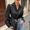 XIBUSANA Elegant Notched Collar Women Tassels Blouses 2021 Spring New Long Sleeve Single-breasted Female Workwear Shirts Tops 5