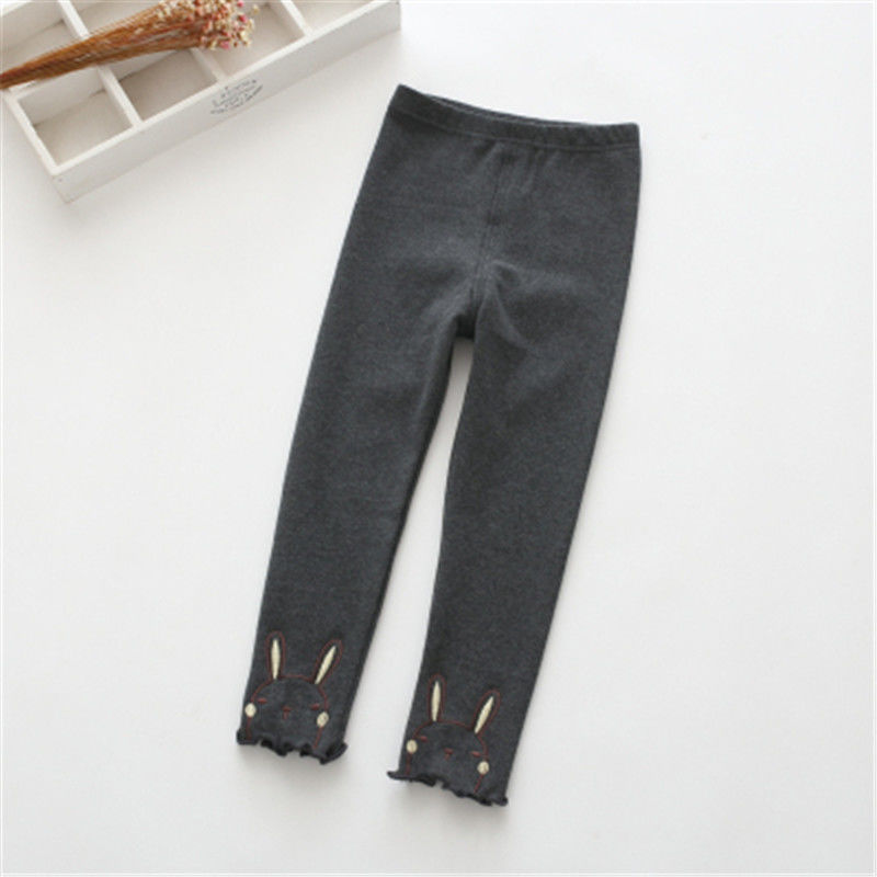 Vidmid Winter Girls Sport Leggings For Kids Cotton Solid Soft Elastic Trousers  3-10 Years Children Striped Skinny Pants P254 5